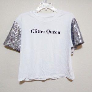 Glitter queen t shirt